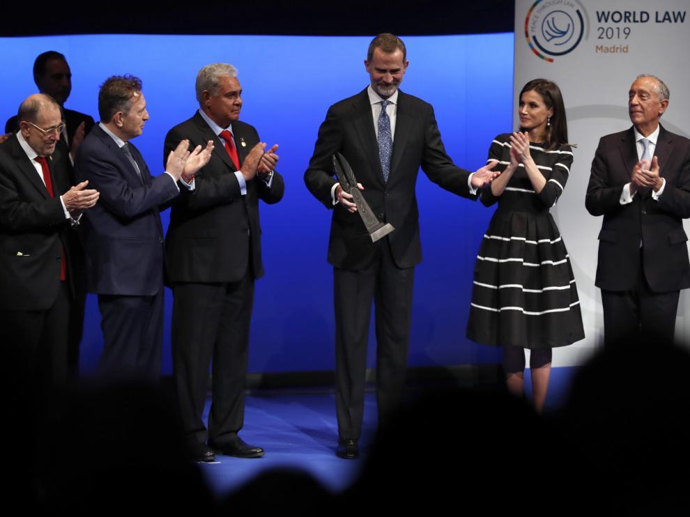 El Rey recibe el Premio Mundial de la Paz y la Libertad