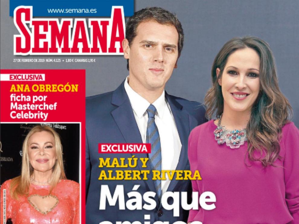 Albert Rivera y Malú podrían haber comenzado una relación, según publica la revista Semana.