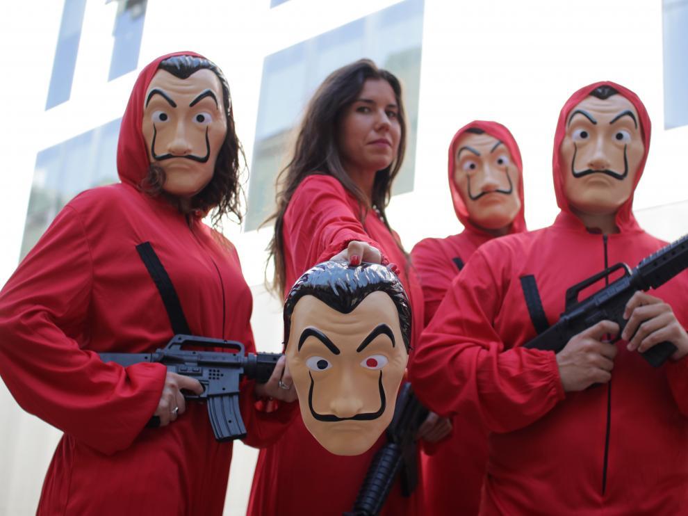 Disfraces de los protagonistas de la serie de televisión La Casa de Papel.