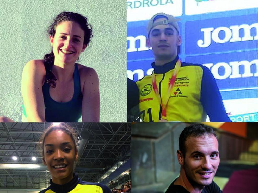 De izquierda a derecha, y de arriba a abajo: Cristina Espejo, Daniel Ambros, Salma Paralluelo y Toni Abadía.