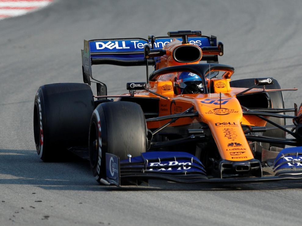 El piloto Carlos Sainz, durante los entrenamientos.