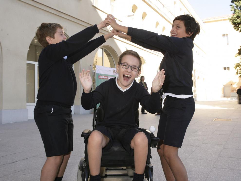 Imagen de archivo de los escolares de un centro educativo  participante en el concurso de la ONCE.