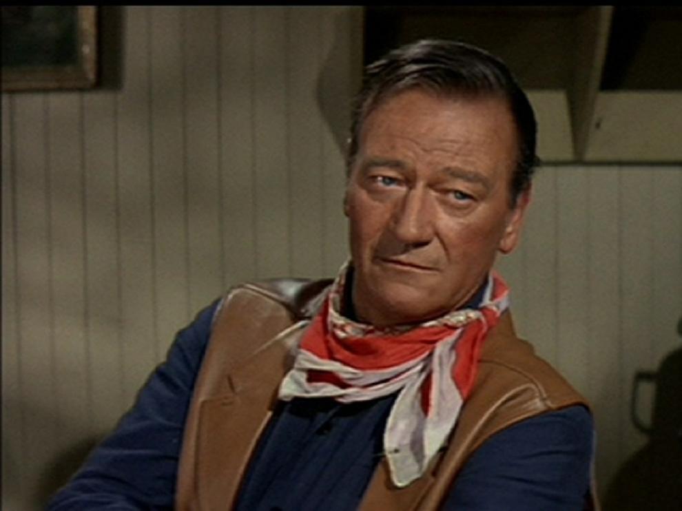 El actor estadounidense John Wayne.