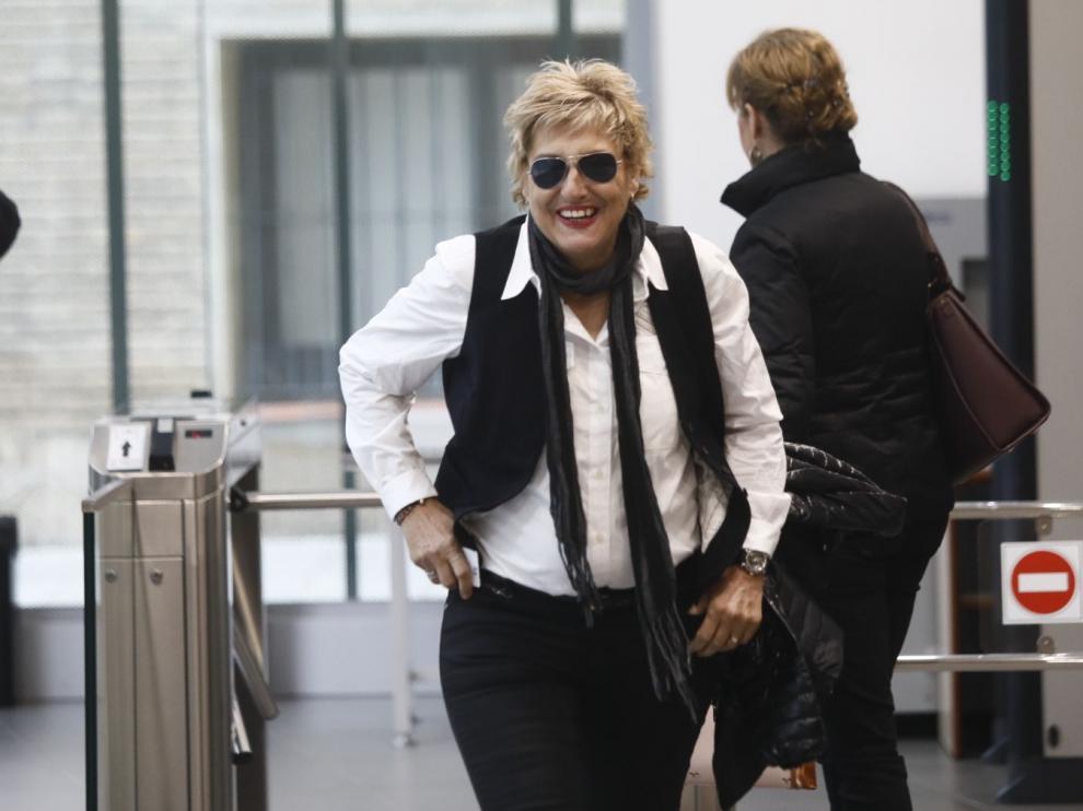 María Victoria Pinilla, en la Audiencia Provincial de Zaragoza este miércoles