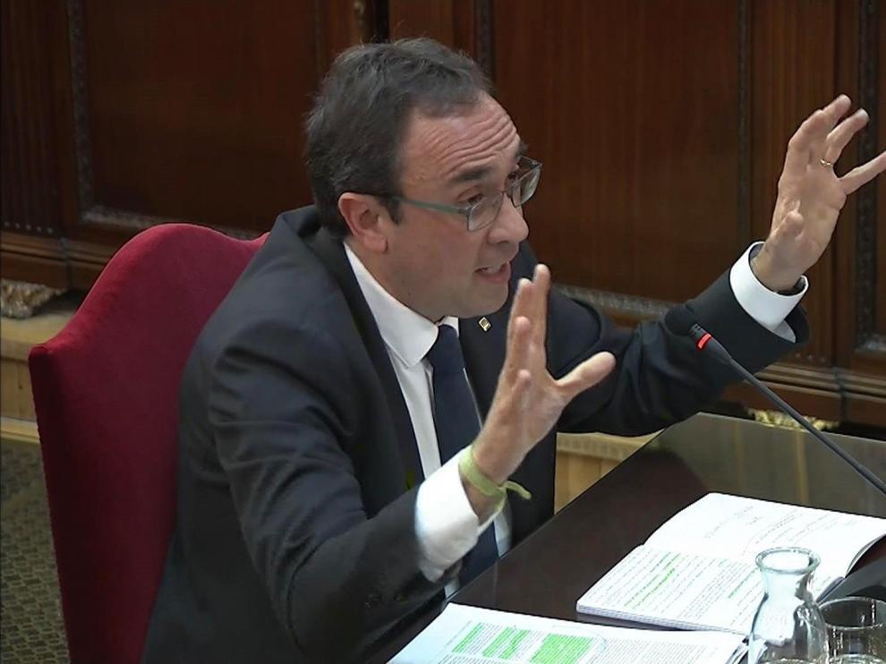 Josep Rull durante su declaración en el Tribunal Supremo.