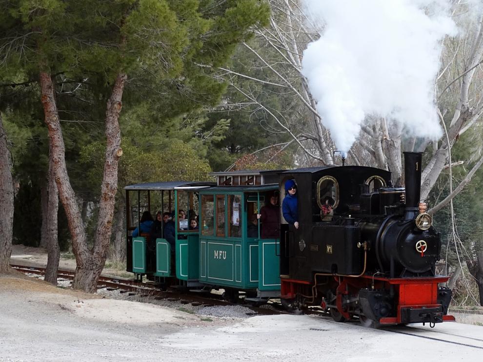 El tren minero recorrerá Utrillas todos los sábados a partir de marzo.