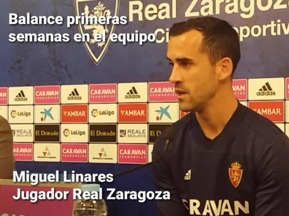 """Linares, del Real Zaragoza: """"El sábado pelearemos para darle una alegría a los aficionados"""""""