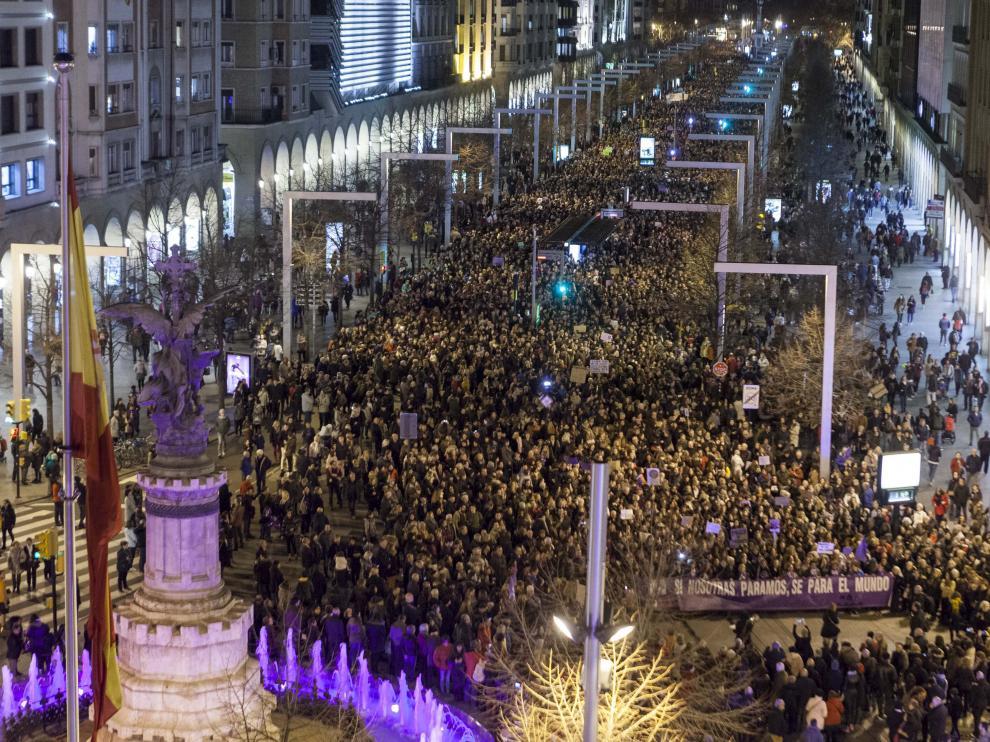 La más multitudinaria, con 37.000 participantes, fue la manifestación del 8 de marzo.