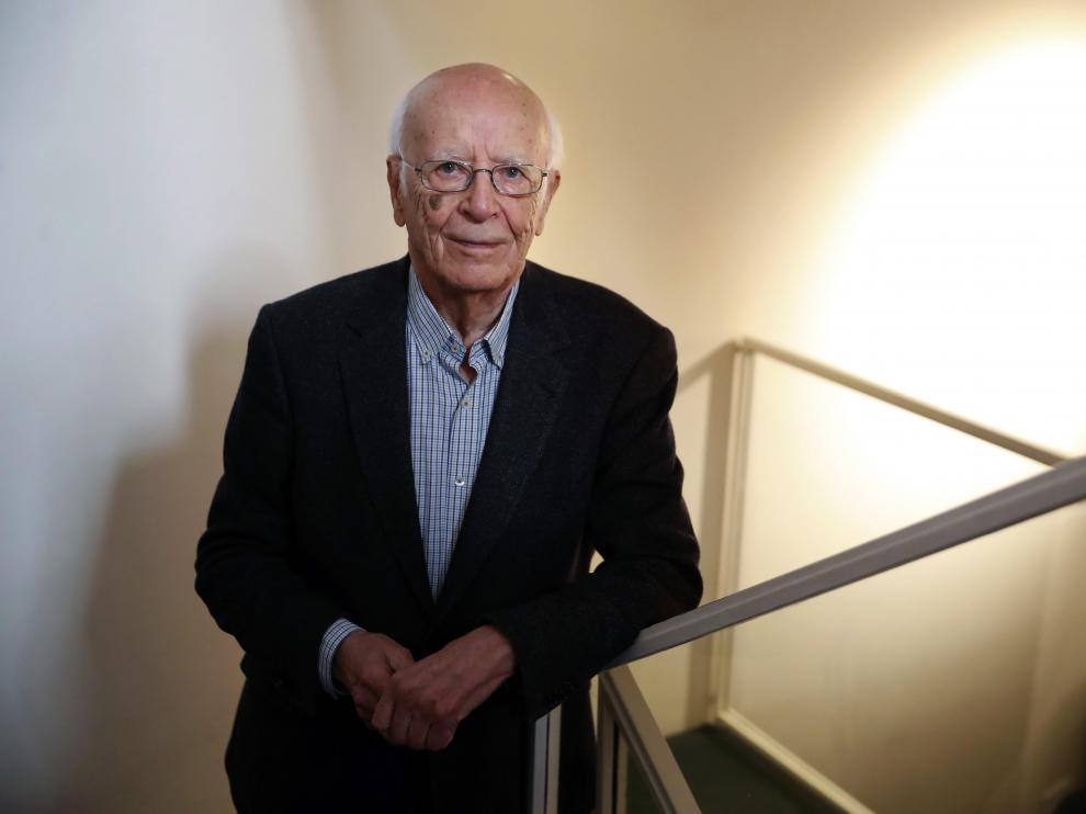 Emilio Lledó, en la presentación del libro 'Palabras en el tiempo', de Cipriano Játiva, que lo esencial de su obra.