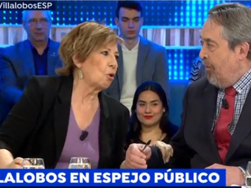 Celia Villalobos y Belloch en el plató de Espejo Público.