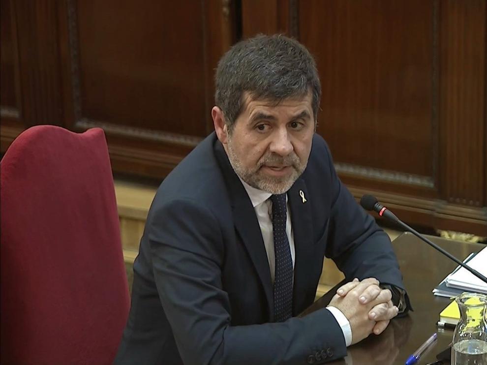 El expresidente de ANC Jordi Sànchez, en el juicio del 'procés'.