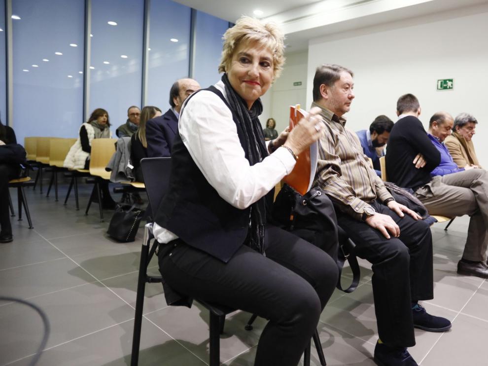 María Victoria Pinilla y el resto de acusados, en la Audiencia Provincial.