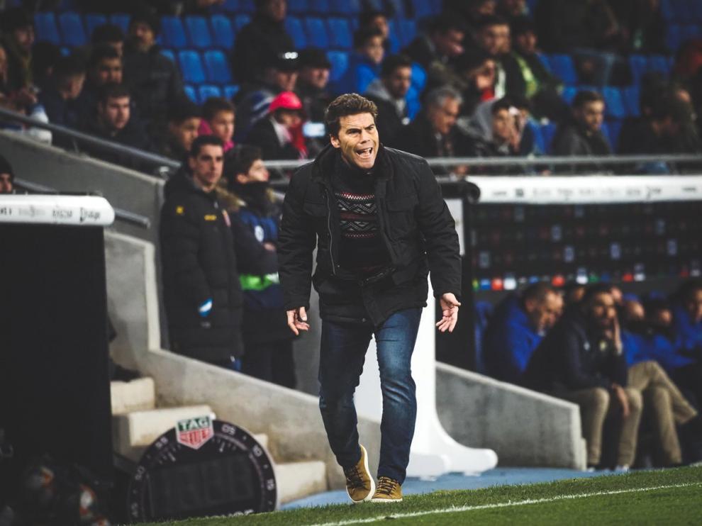 Rubi, durante un partido con el Espanyol.