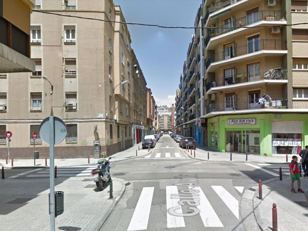 La confluencia de las calles de Ávila y Burgos, donde se ha producido el accidente esta mañana.