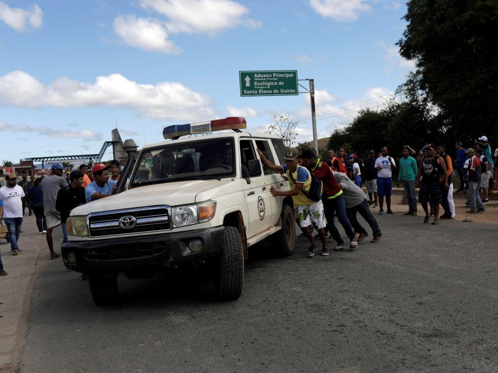 Enfrentamiento en la frontera de Venezuela con Brasil.
