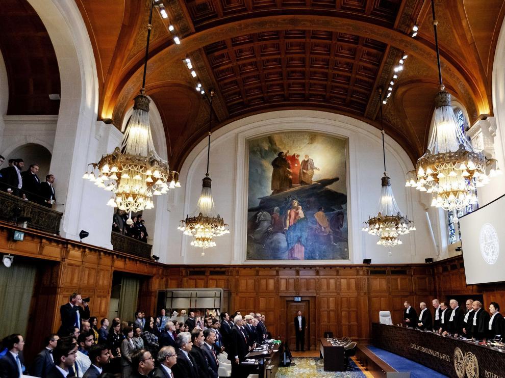 Vista de la Corte Internacional de Justicia de La Haya