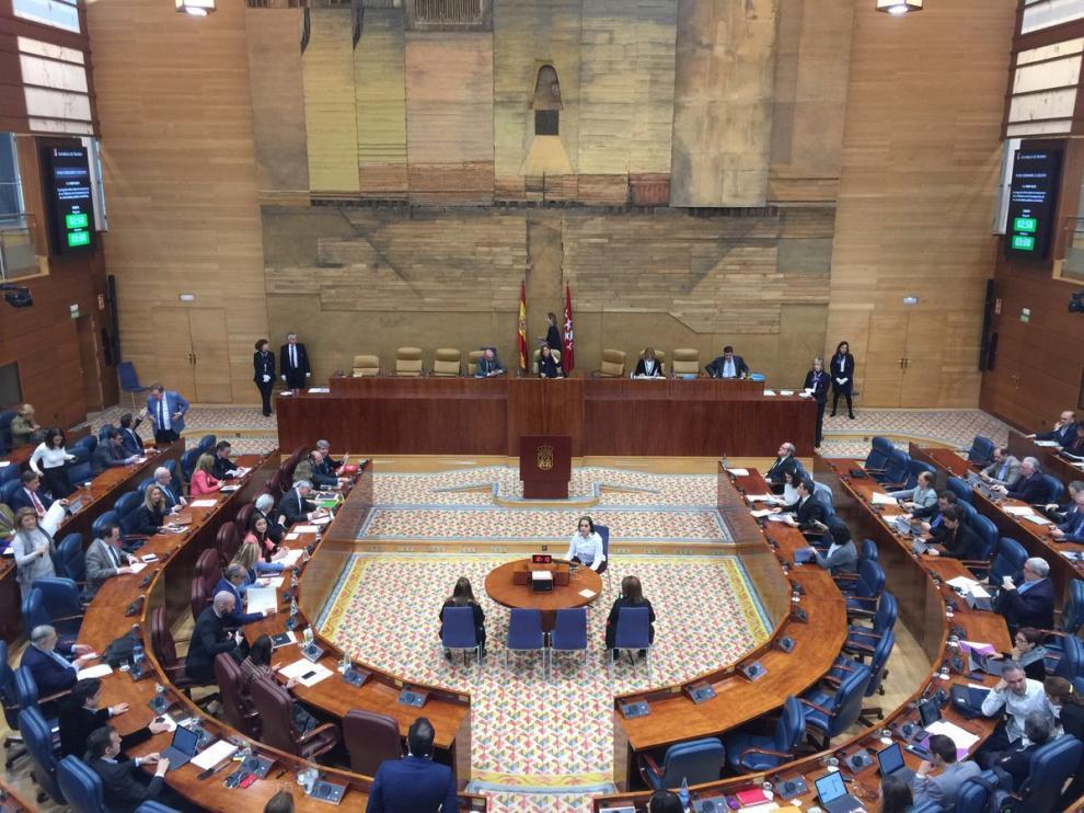 Pleno en la Asamblea de Madrid