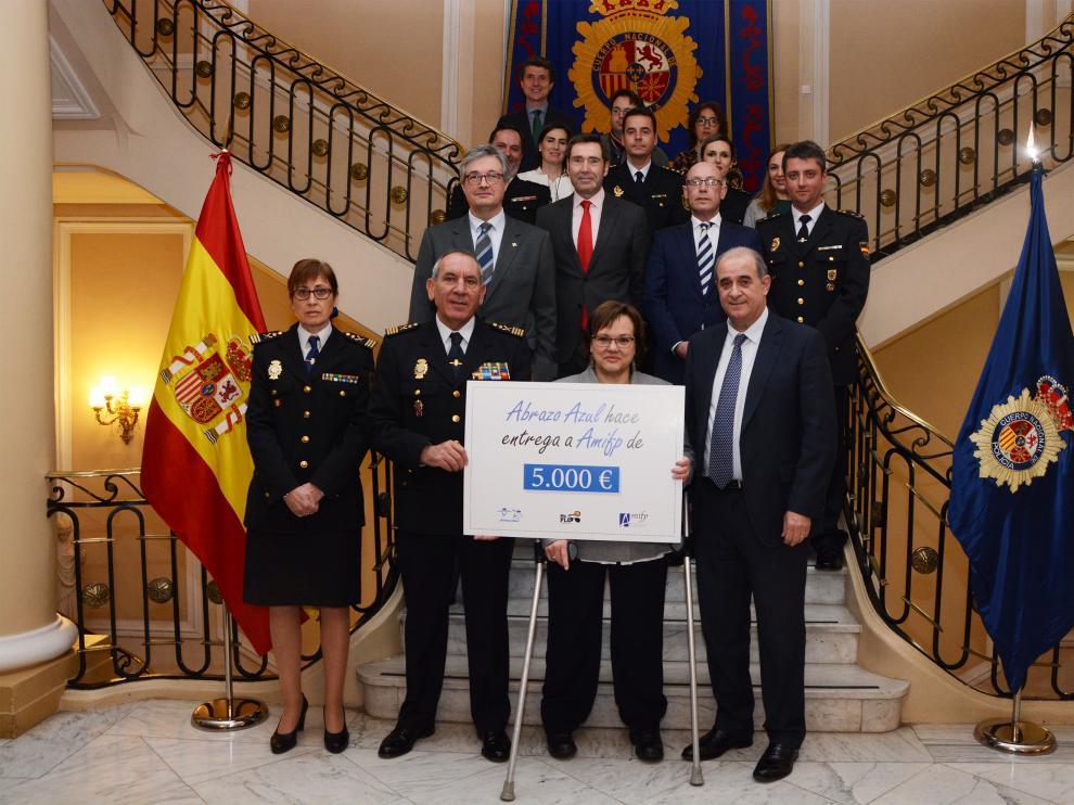 Entrega de la recaudación solidaria celebrada en Madrid este jueves.
