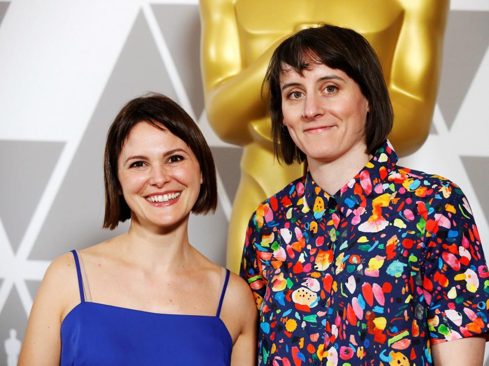 Nuria González Blanco, junto a Louise Bagnall.