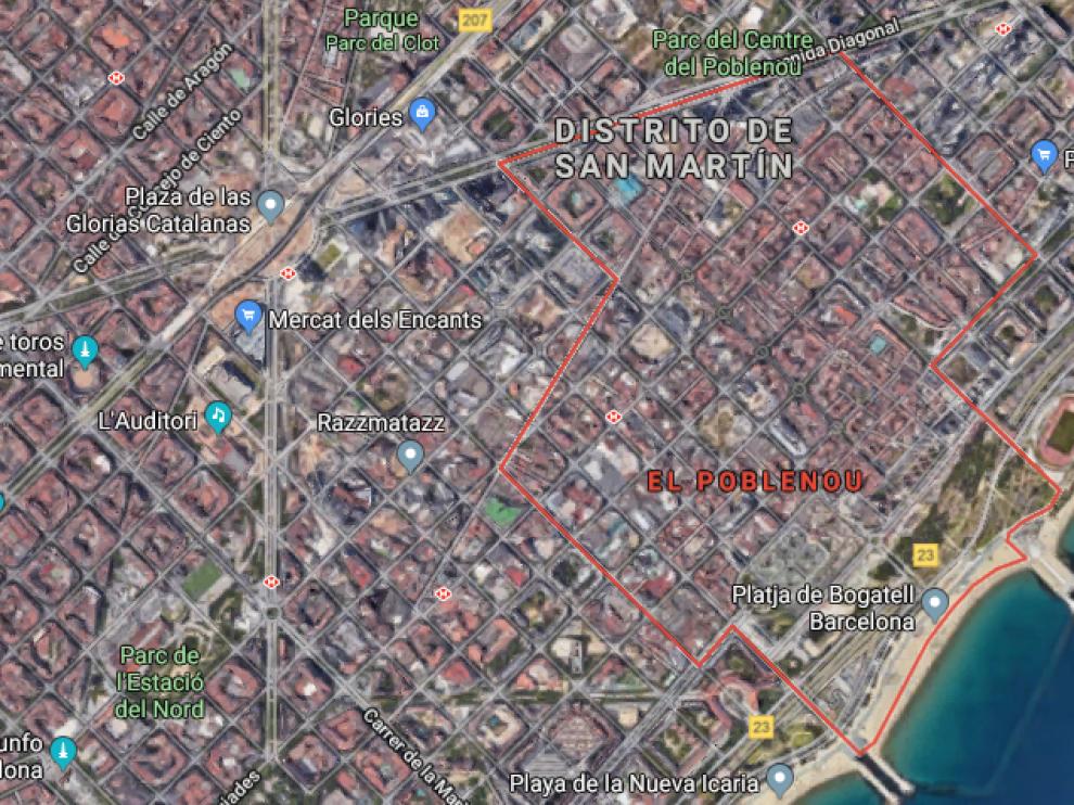 Los hechos sucedieron en el distrito de Poblenou en Barcelona.