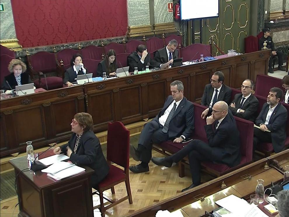 Un momento de la vista oral del juicio a los dirigentes independentistas.