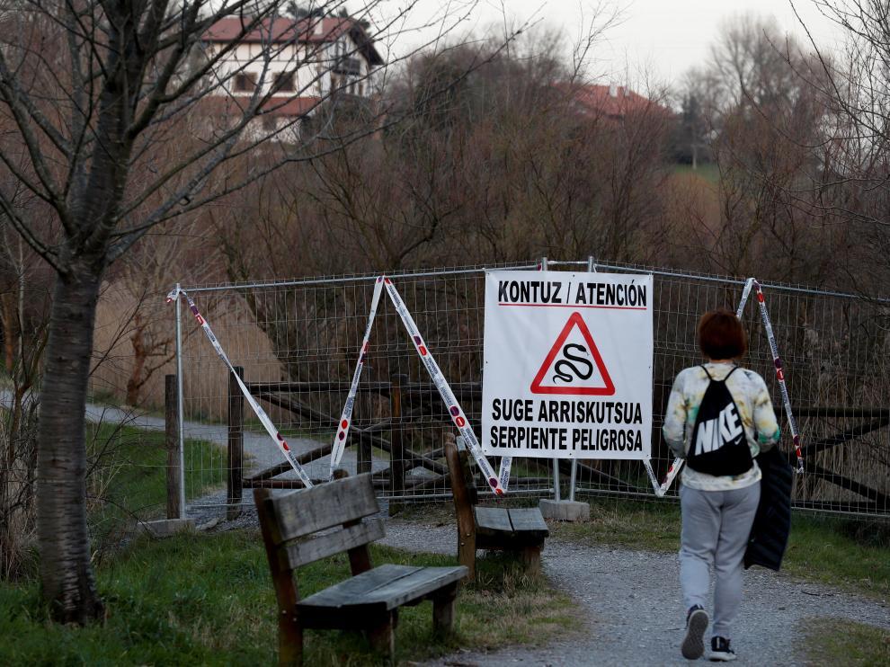 La alerta obligó a cerrar una zona de las marismas de Amute, en Hondarribia