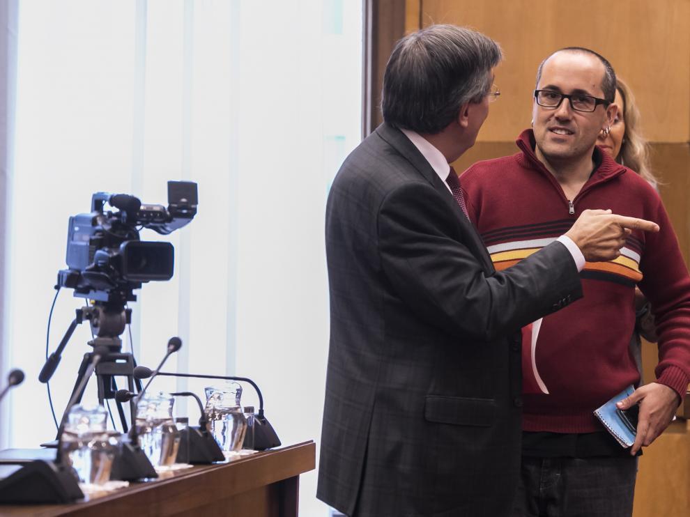 El concejal de Servicios Públicos y Personal, Alberto Cubero, en una recientecomisión del área