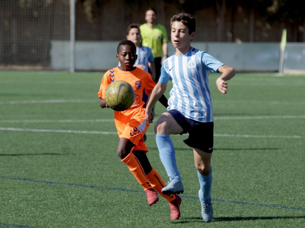 Fútbol. Alevín Preferente- Racing Club Zaragoza vs Ebro.