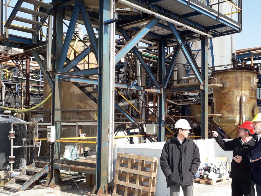 Visita a las instalaciones de Química del Cinca
