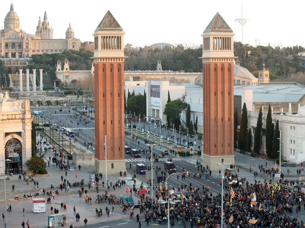 Protestas de los CDR por la presencia del Rey en Barcelona