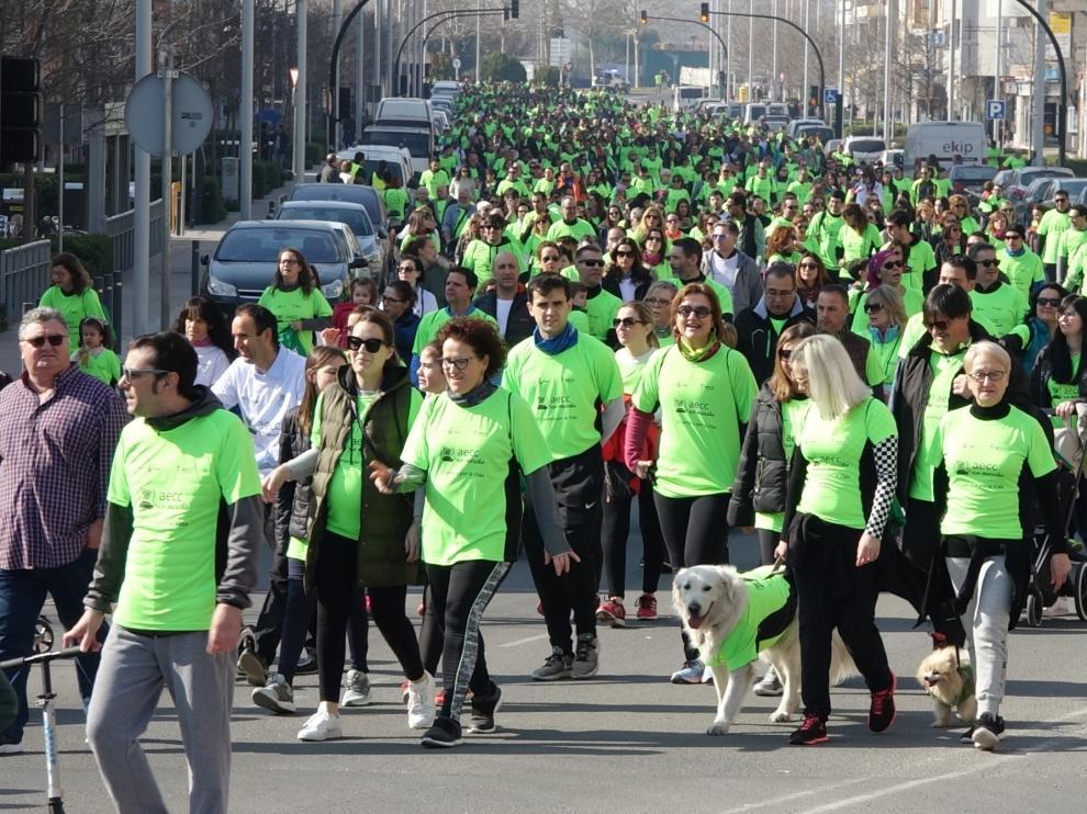 Más de 3.500 personas se unen a la Carrera por la Vida de Fraga