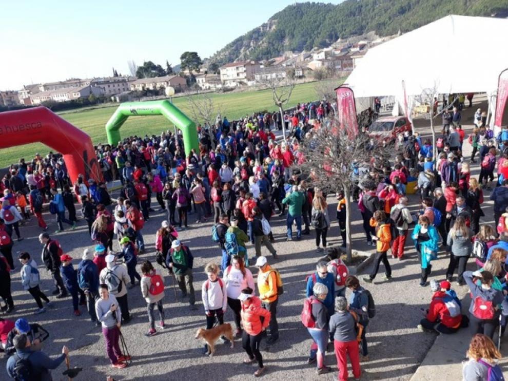 La andada popular tenía salida y llegada en Ayerbe
