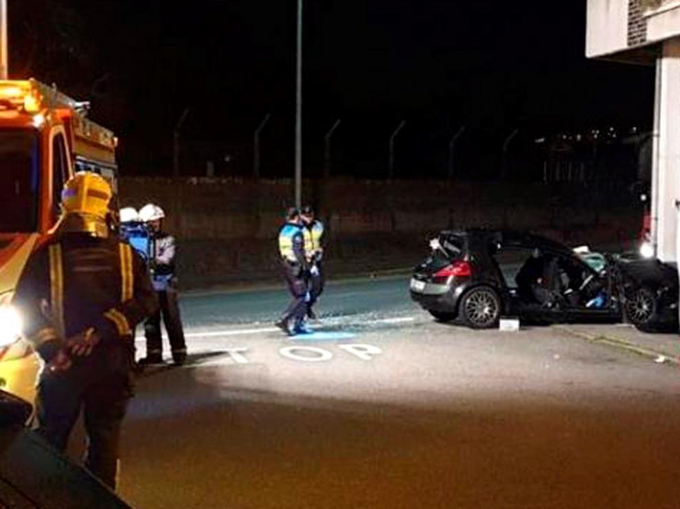 Accidente en Noia (La Coruña), este fin de semana.