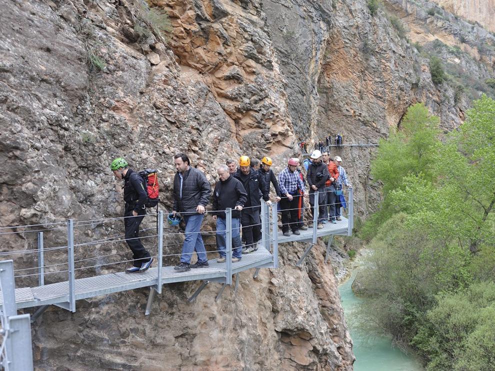 Las pasarelas de Alquézar son un recorrido aéreo que se adentra en el cañón del Vero