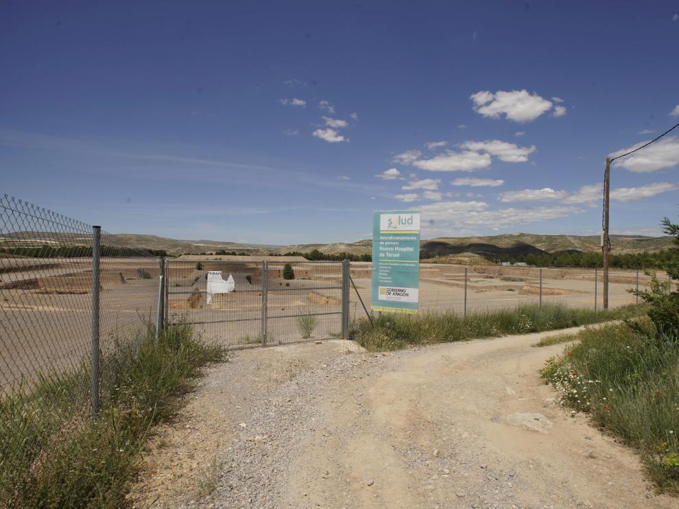 Terrenos del Planizar donde se levantar el comprometido hospital de Teruel.