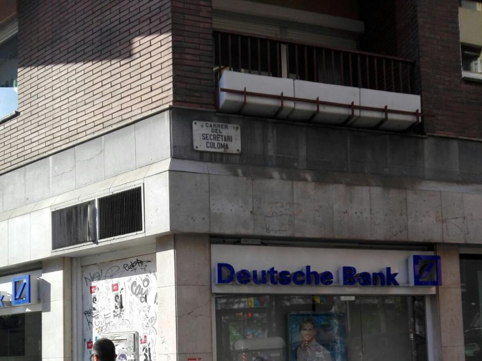 Imagen de la calle del Secretario Coloma, en Barcelona.