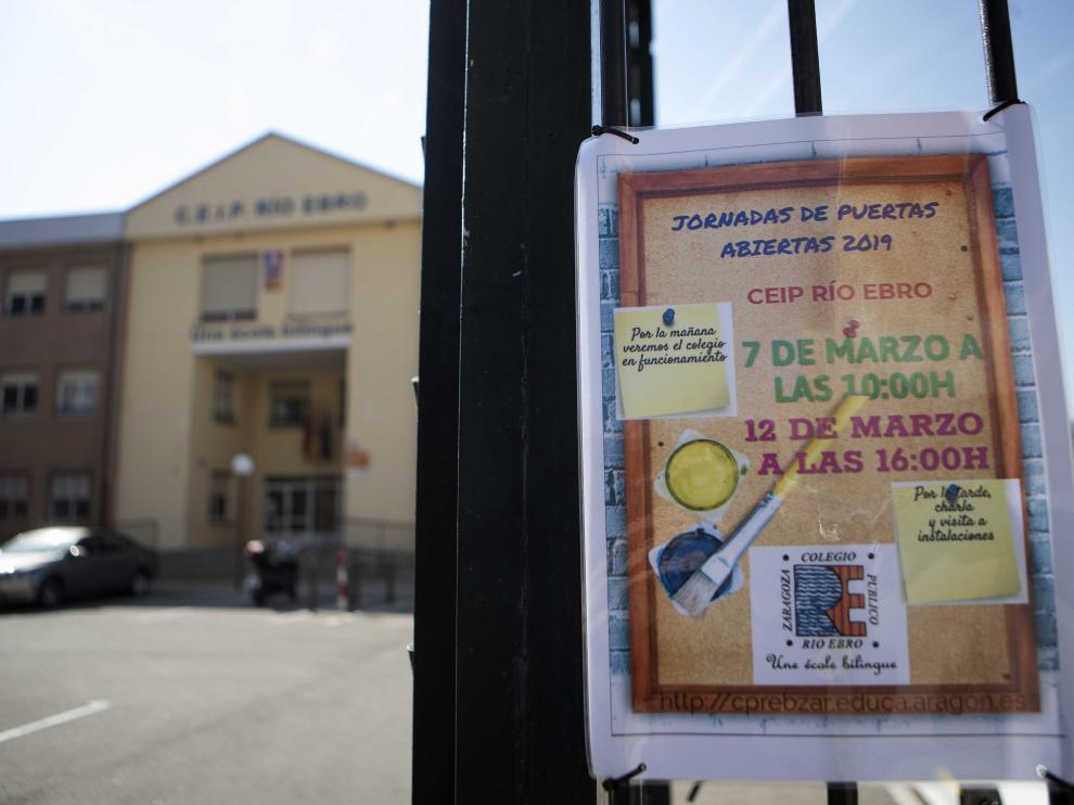 Algunos colegios, como el Río Ebro, han puesto ya en marcha sus jornadas de puertas abiertas