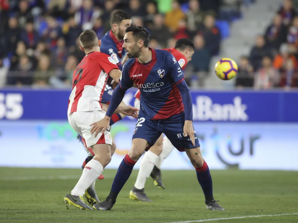 Enric Gallego, durante el partido frente al Athletic de Bilbao.