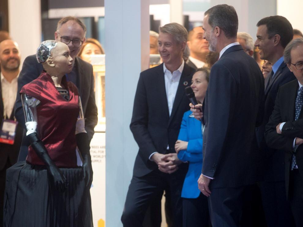 Un momento de la inauguración del Mobile World Congress.