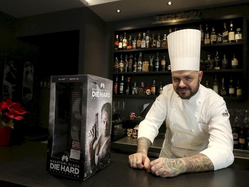 Tonino Valiente, chef del Tatau, en Huesca.