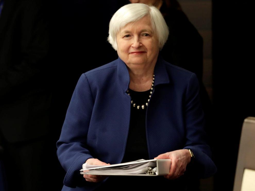 La anterior presidenta de la Reserva Federal (Fed), Janet Yellen.