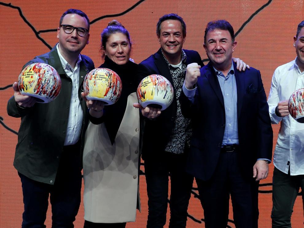 Los chefs galardonados con los premios Sol.