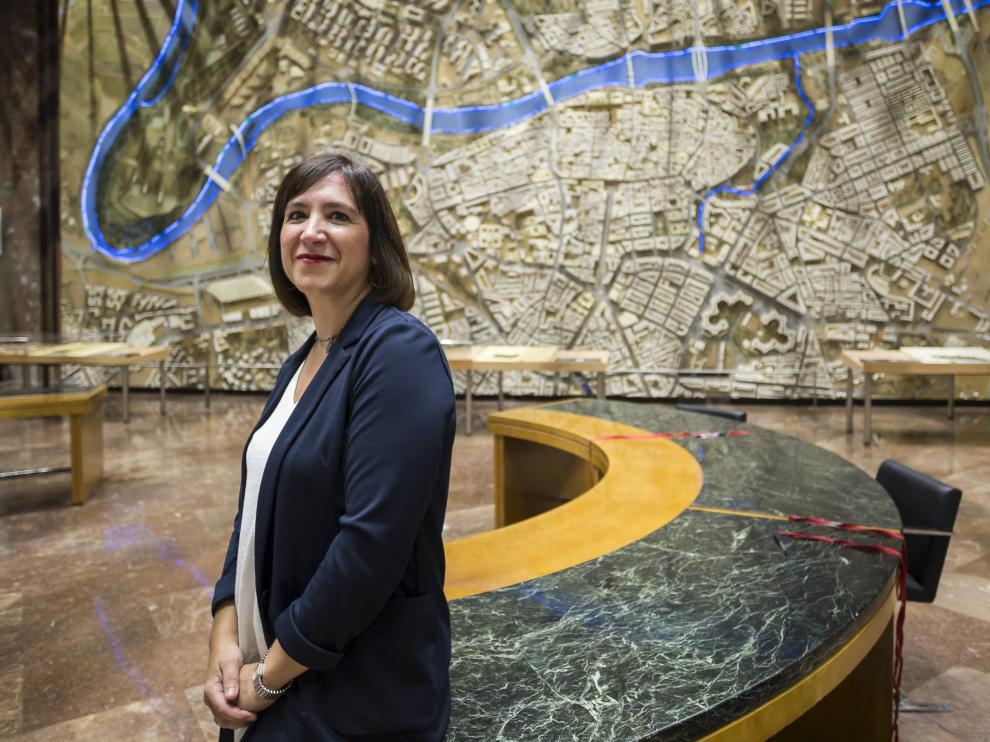 Sara Fernández, en el Ayuntamiento de Zaragoza