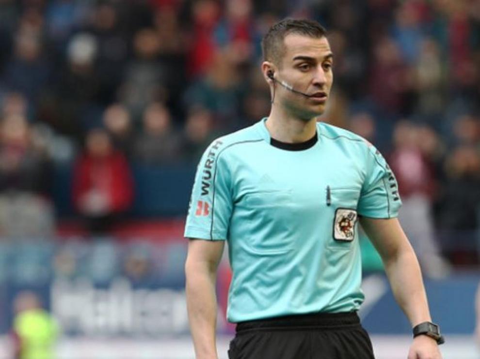 Santiago Varón Aceitón, el año pasado en El Sadar en el Osasuna-Real Zaragoza.