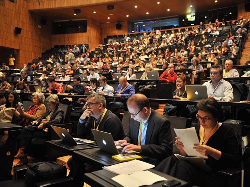 Imagen de la pasada edición del Congreso de Periodismo Digital de Huesca