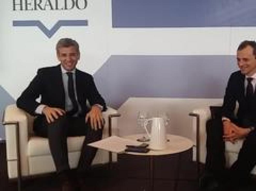 El ministro de Ciencia, Innovación y Tecnología, Pedro Duque, ha participado en una nueva edición del Foro HERALDO. El evento ha tenido lugar este martes en el Hotel Reina Petronila de la capital aragonesa.