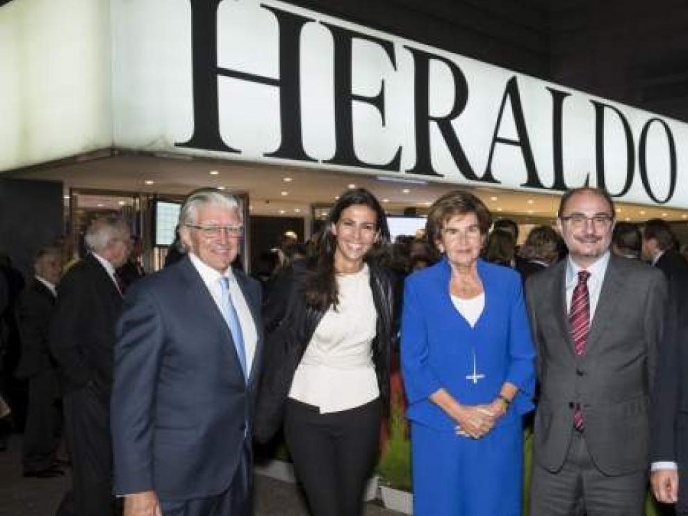 Ana Pastor, cuando recibió el Premio Heraldo de Periodismo.