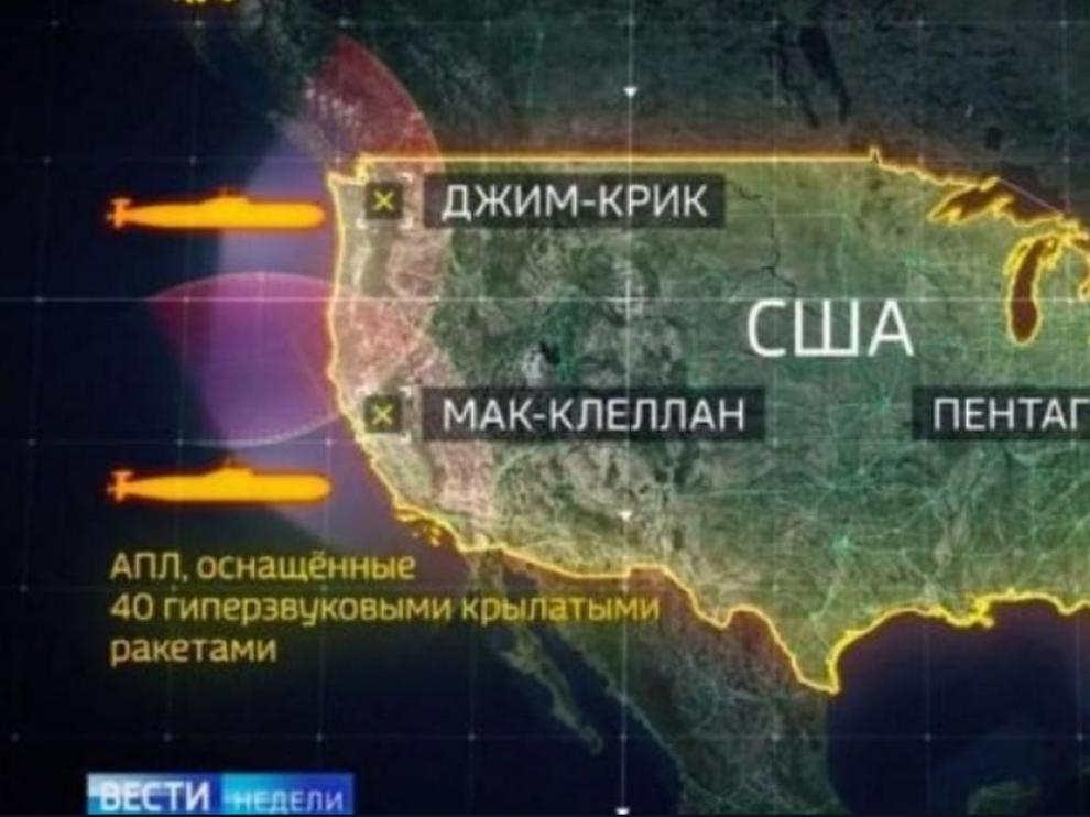 Infografía de la forma que supuestamente empleará la Armada rusa para atacar.