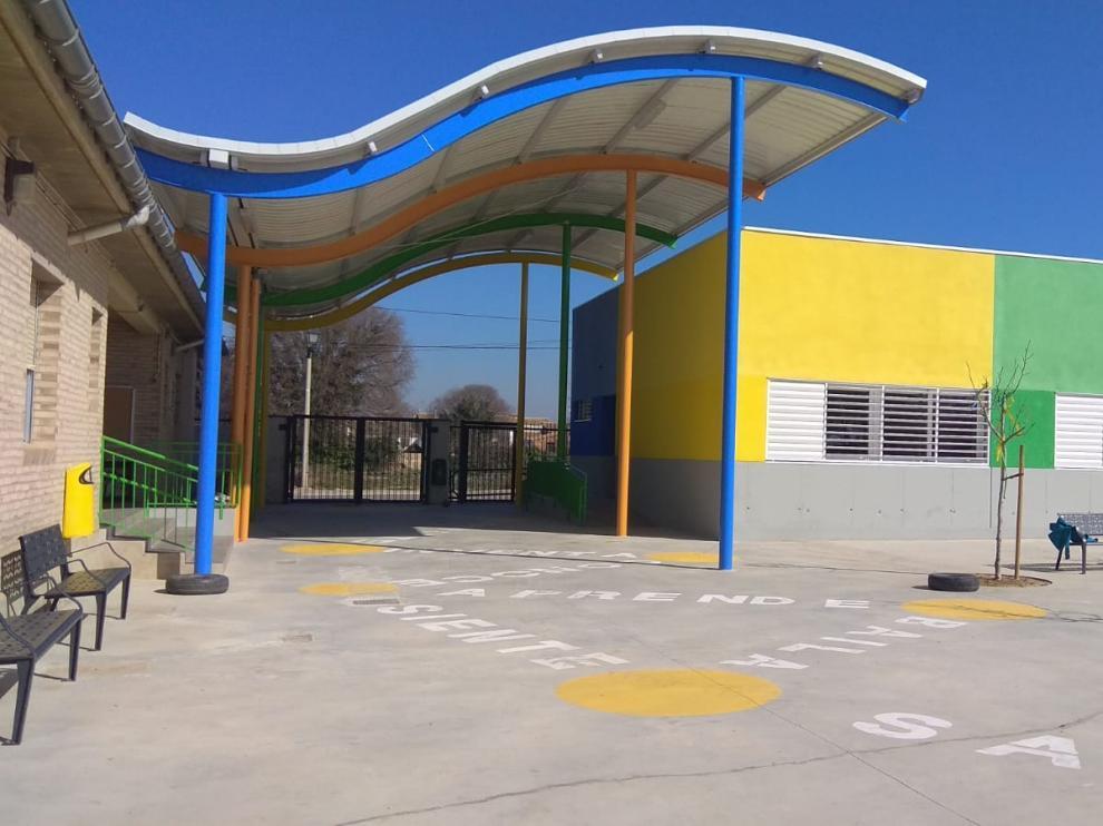 Colegio de Peñaflor, que estrena edificio y patio de recreo.
