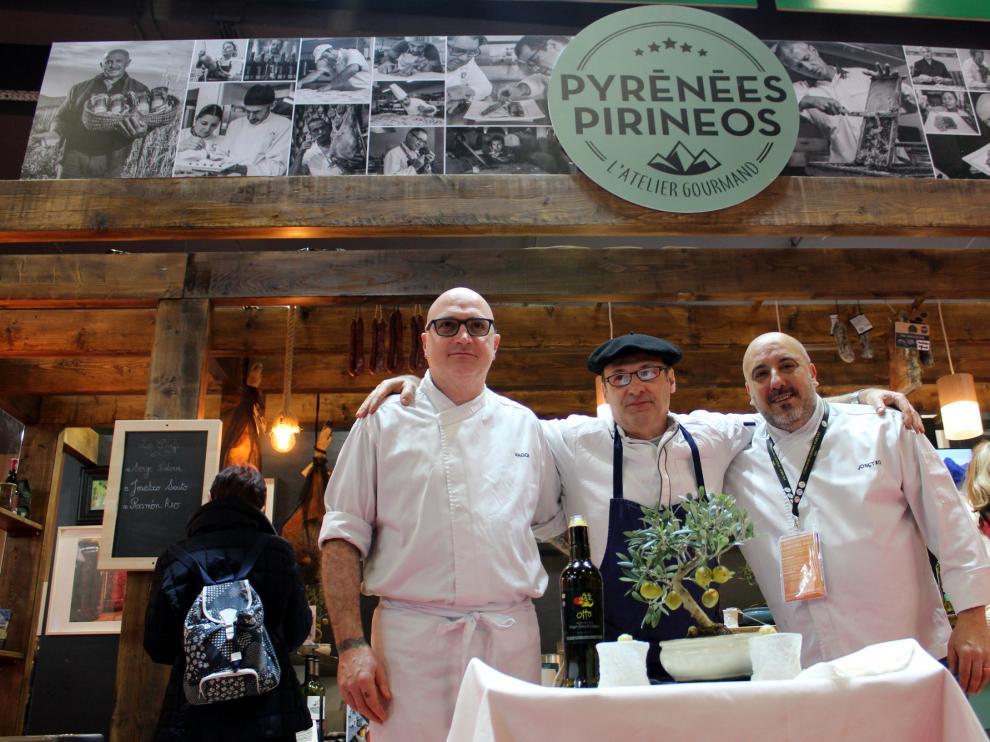 Cocineros aragoneses participan en el salón internacional de París.